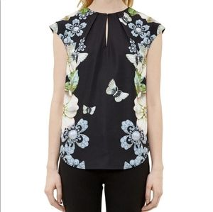 Ted Baker London Naddi Black Butterfly Blouse 2